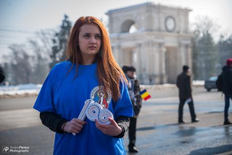 Otilia Dascal, voluntar la Marea Adunare Centenară din Chișinău (25 martie 2018)