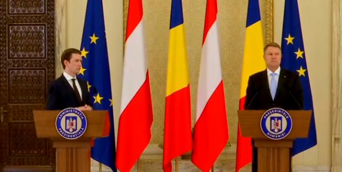 Klaus Iohannis si Sebastian Kurz