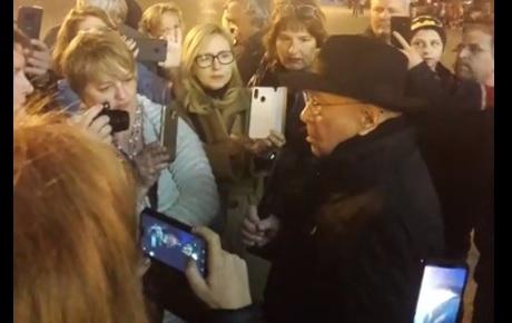 Mihai Sora la protestul din Timisoara