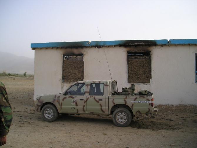 scoala arsa Afganistan