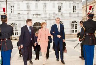 Custodele Coroanei şi Principele Radu, vizită în Franţa / sursa foto: Familia Regală a României / Facebook