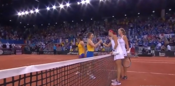 Final meci Fed Cup Franta-Romania