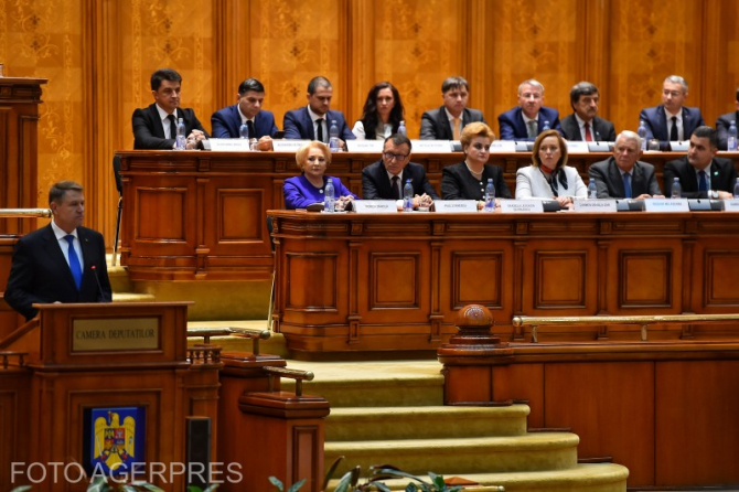 Klaus Iohannis în Parlamentul României