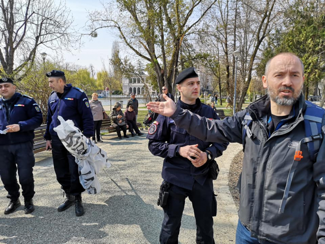 Manifestatie banner jandarmeri - Cluj - Daniel Giurca
