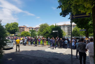 Secţie de votare greşită în Lecco, Italia. Sursa foto: Raluca Turcan / Facebook