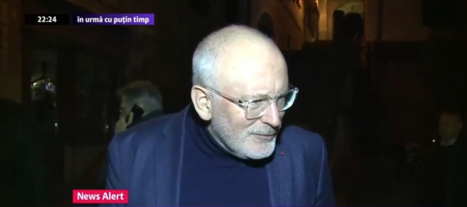 Frans Timmermans, la Sibiu - Captură video Digi24