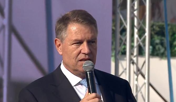 Klaus Iohannis - miting PNL, la Iaşi