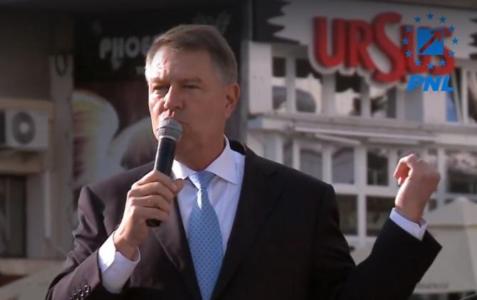 Klaus Iohannis, miting PNL Iaşi
