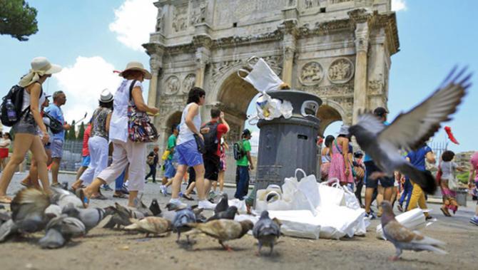 Roma, sufocată de gunoaie