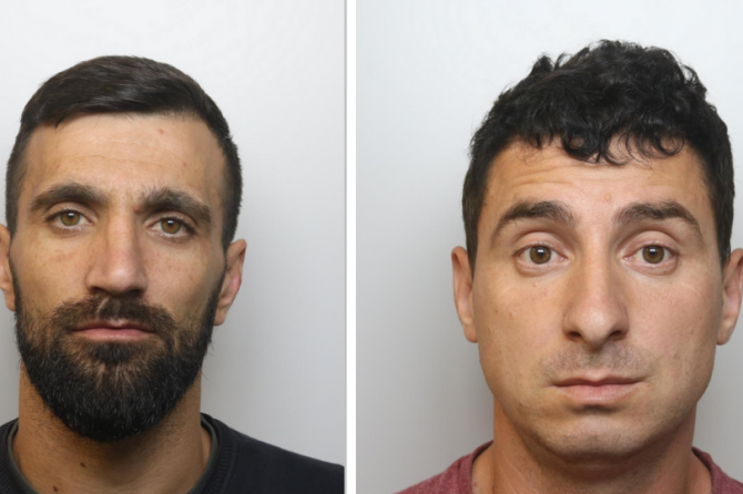 Ion Stoian and Ilie Dobrescu (sursa: Avon and Somerset police) - somersetlive.co.uk