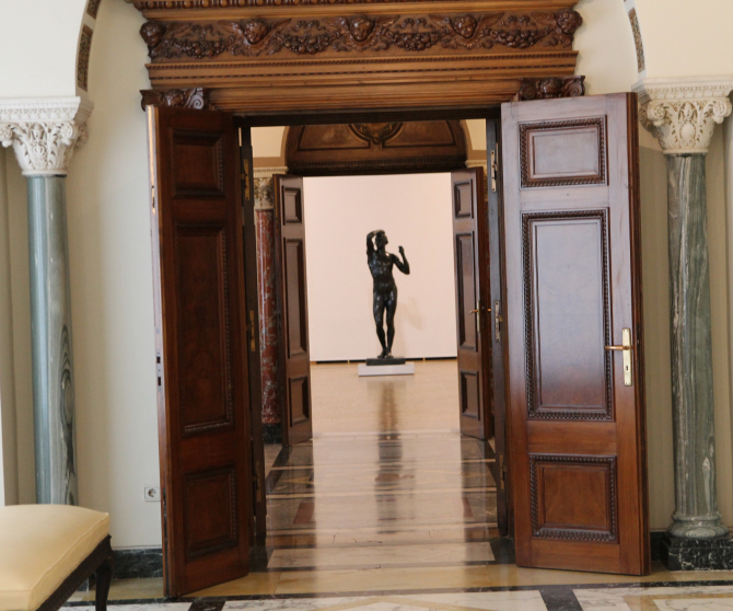 Spre sala în care se află capodopera  Foto: Crișan Andreescu prin amabilitatea MNAR