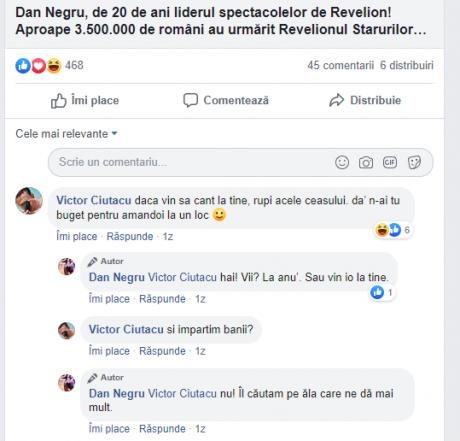 captura comentarii Facebook Dan Negru