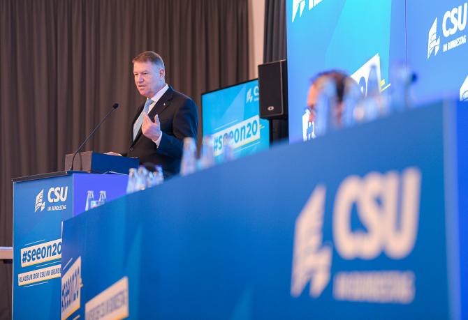 Klaus Iohannis - Participare la Reuniunea CSU - Uniunea Creștin-Socială din Bavaria