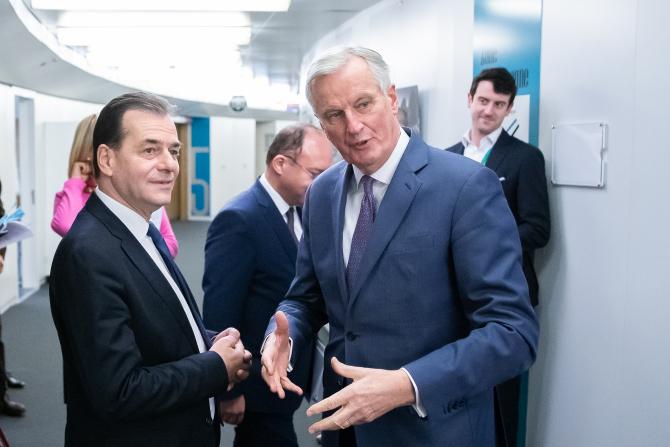 Ludovic Orban și Michel Barnier
