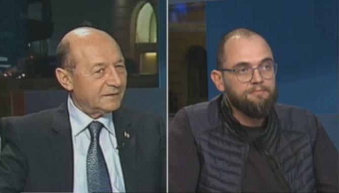 Traian Băsescu și Oreste Teodorescu