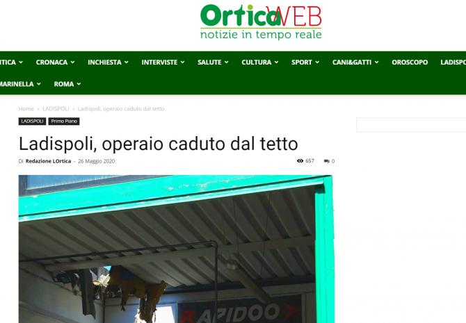muncitor roman cazut prin acoperis