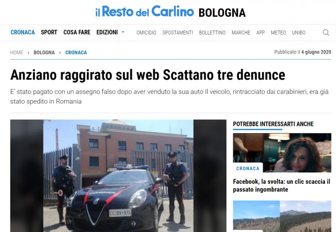 Escrocheria cecul fals italia