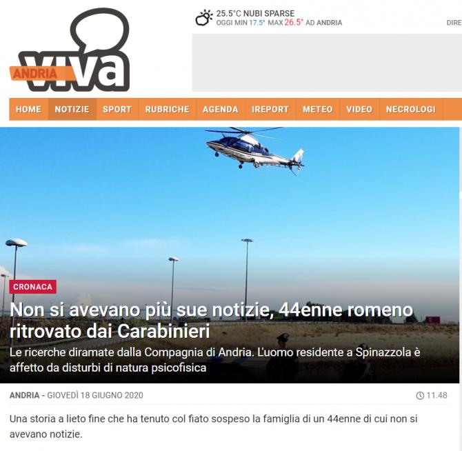 roman cautat cu elicopterul