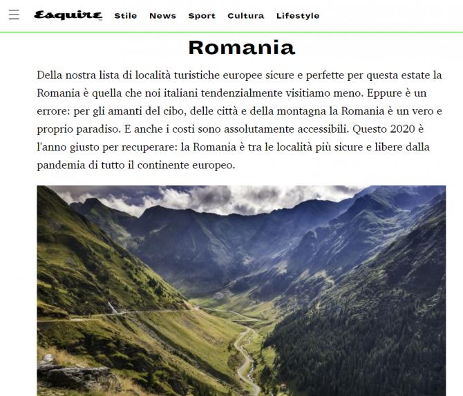italienii recomanda romania ca destinatie turistica