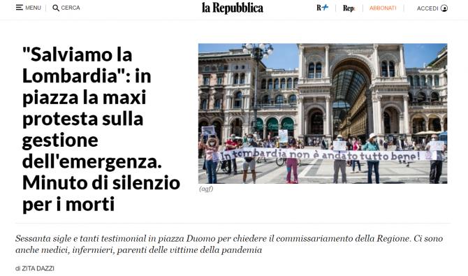 protest milano 20 iunie