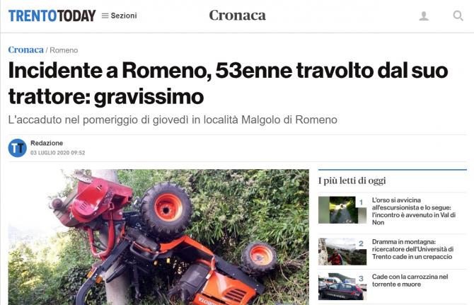 roman accident tractor