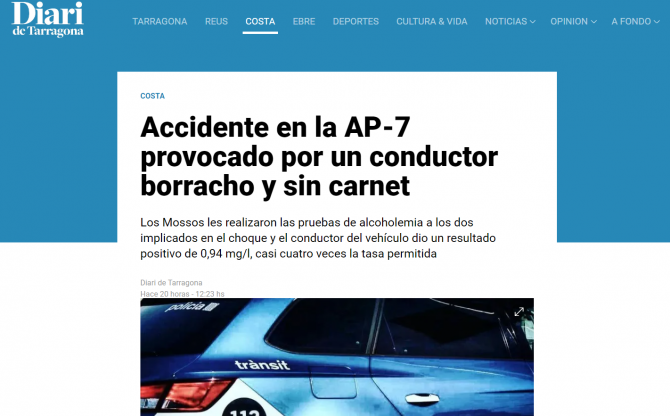 roman accident spania