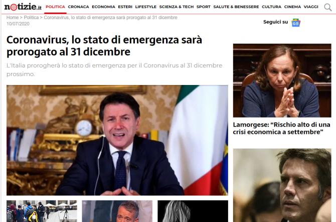 italia prelungeste starea de urgenta