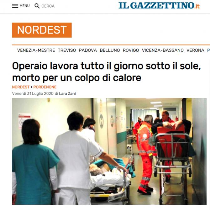 muncitor roman mort italia caldura
