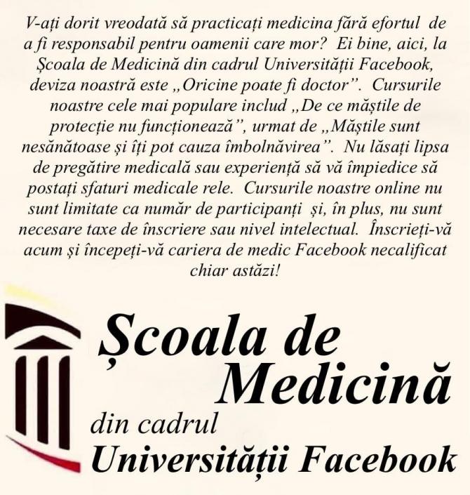 raed arafat mesaj facebook scoala de medicina