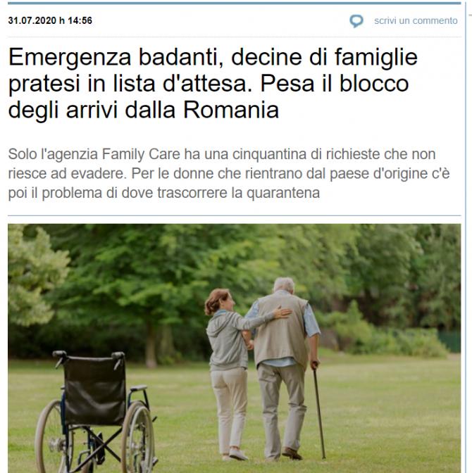 italienii disperati nu mai gasesc badante