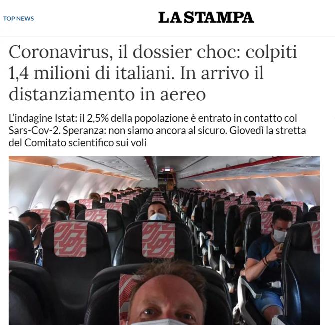 studiu italia peste 1,5 milioane au luat contact cu virusul