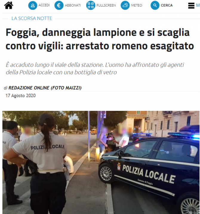 roman arestat italia scandal strada