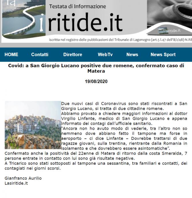 romance coronavirus italia