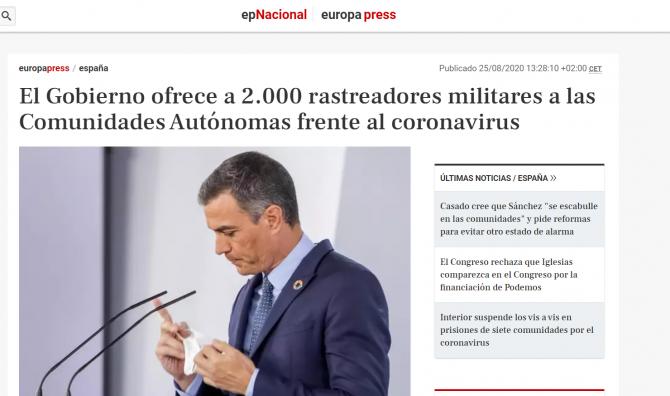 spania armata strazi focare covid sanchez