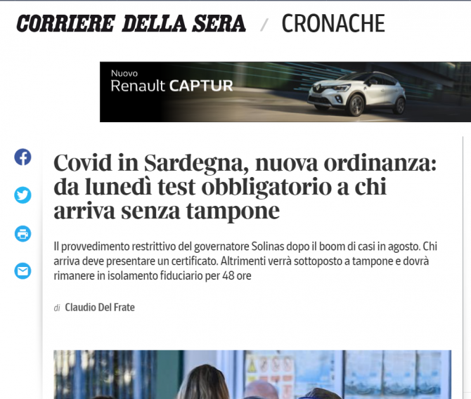 italia test obligatoriu