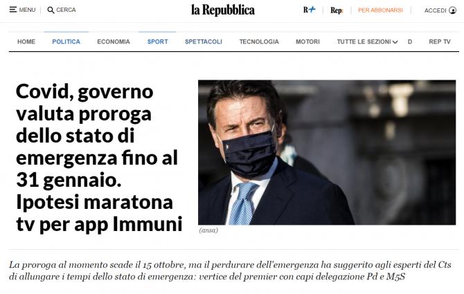 prelungire stare de urgenta italia