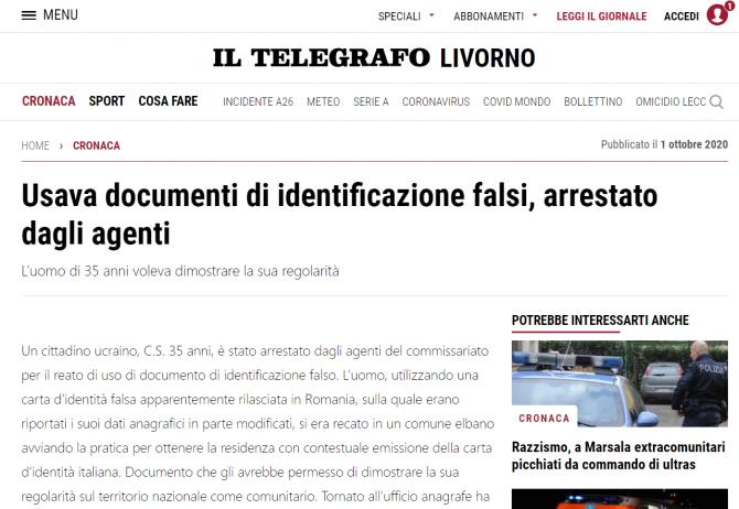 ucrainean italia buletin romanesc fals