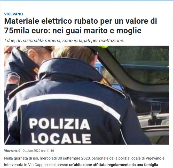 romani materiale furate italia