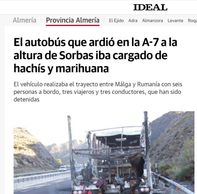 autocar ars autostrada spania