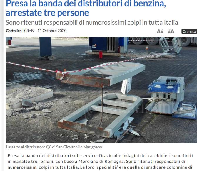 romani furt benzinarii buldozer