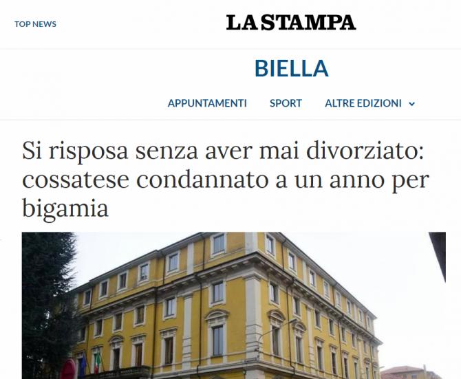italian condamnat bigamie romanca