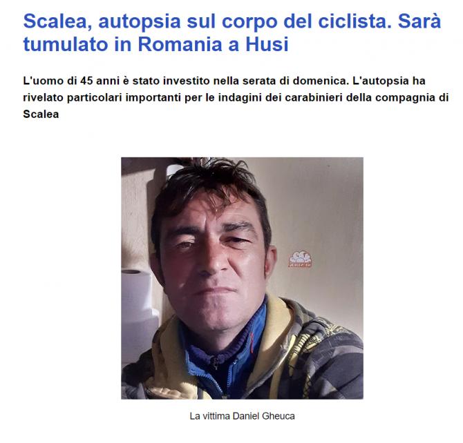 daniel roman mort italia