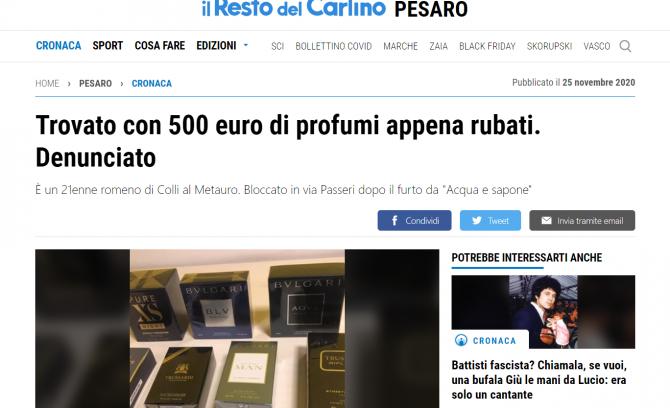 roman italia furt de parfumuri