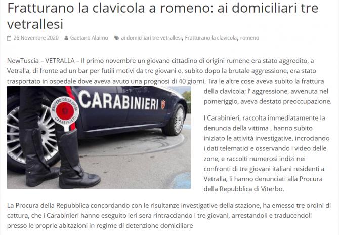 trei italieni arestati au batut un roman