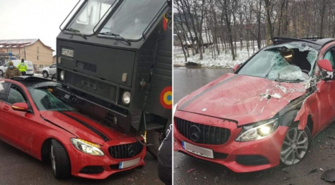 accident_intre_camion_si_mercedes