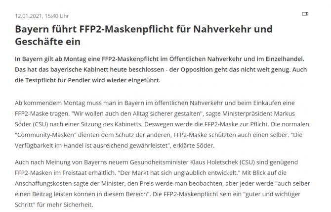 masca ffp2 obligatorie bavaria germania