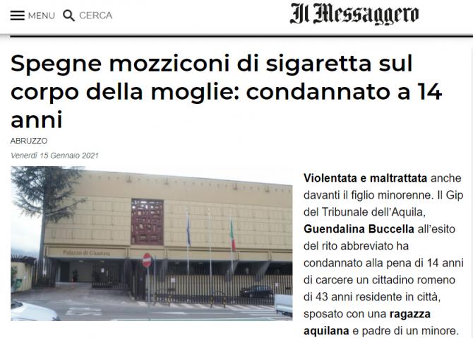 romanca arsa cu tigara de sot italia
