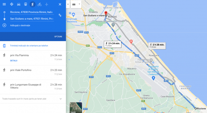 roman italia amendat a mers pe jos 11 kilometri