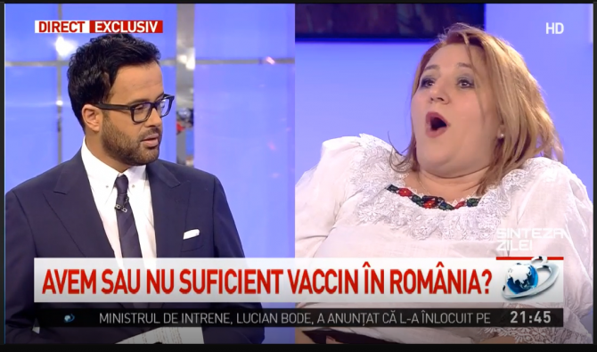 """Diana Șoșoacă a plecat din emisiunea """"Sinteza Zilei"""" de la Antena 3 (Foto: captura de ecran)"""