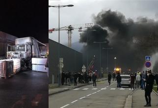 Camion ars Cernay, Franta. Șofer roman